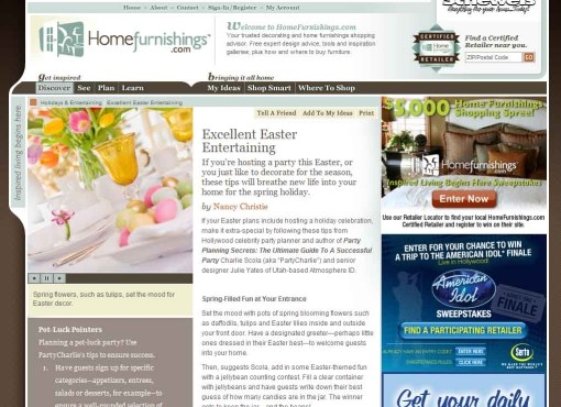 Excellent Easter Entertaining by Nancy Christie
